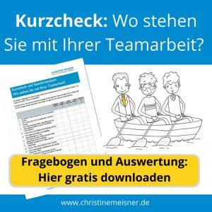 Fragebogen zum Download: Wo stehen Sie mit Ihrer Teamarbeit